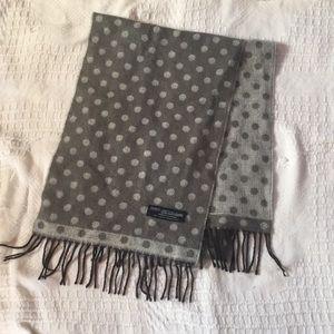 100% cashmere polka dot scarf